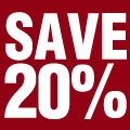 Save 20% on Fees