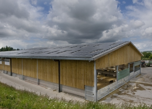 Barn rooftop PV installation by Solar South West