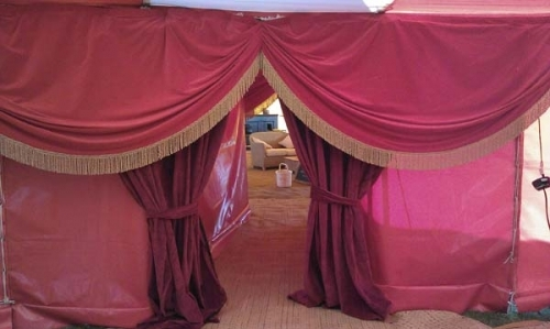 vintage decor hire, velvet drapes