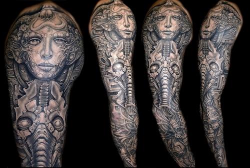 H.R. Giger type tattoo