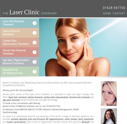 Laser Clinic Branding, Logo Design, Marketing Material & Responsive Website