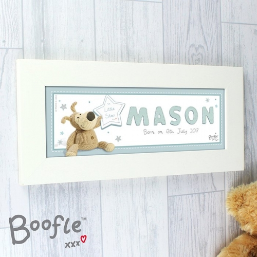Personalised boofle it's a boy name frame.