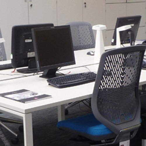 modern office benching system from Team a go-go