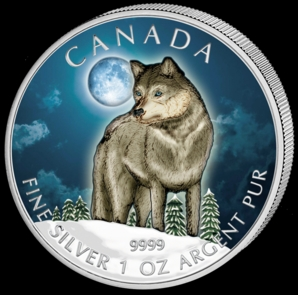 2011 Silver Wolf 1oz Colour Obv