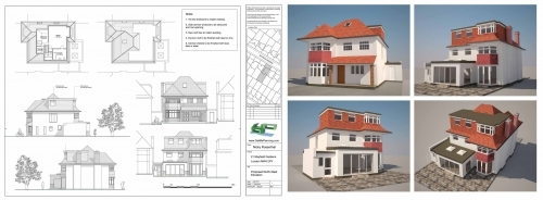Sample of project for hip to gable roof extension with rear bay window dormer