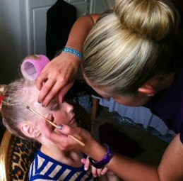 Make-up for Brides, special occasions and in this case, little dancers!