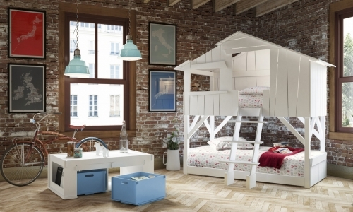 White Tree House kids bed