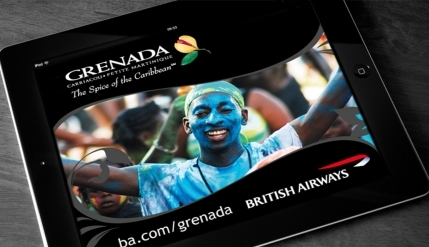 Digital media marketing for British Airways / Grenada
