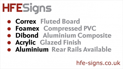 Some of the most popular rigid sign materials