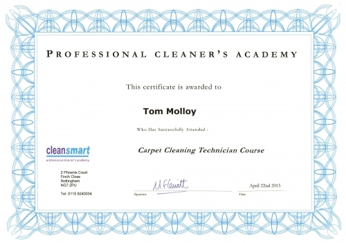 Cleansmart Academy Trained - Carpets