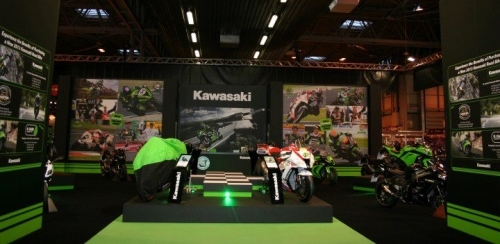 Kawasaki Exhibition Stand at the Motorcycle Live 2012