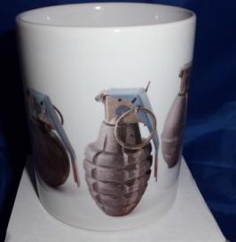 Grenade personalised mug