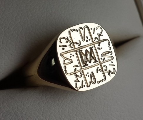 Seal Engraved Custom Monogram