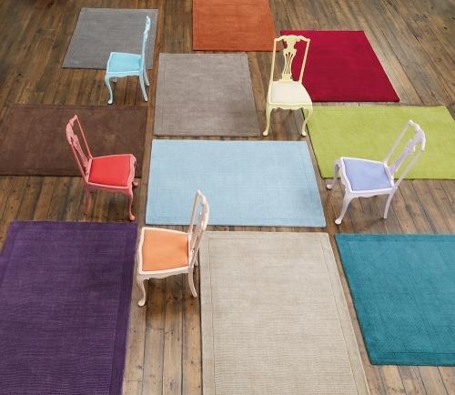 York wool rugs in various colours