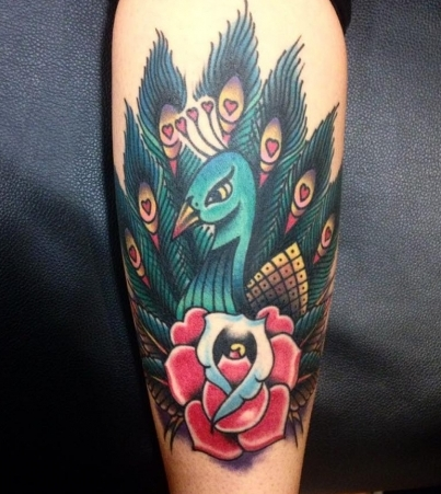 Full colour peacock by Simon