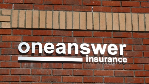 individually mounted letters, offer a clean modern look.