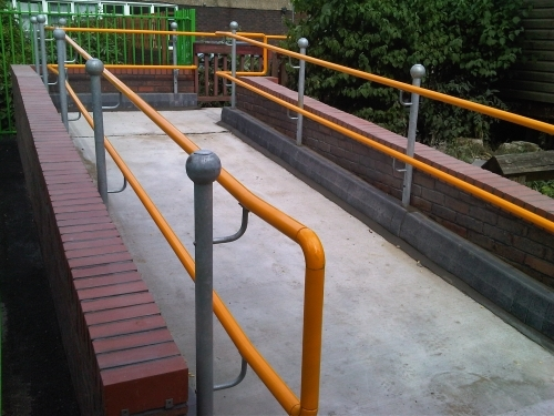 Dda Compliant Handrail Barbly School A M Fencing