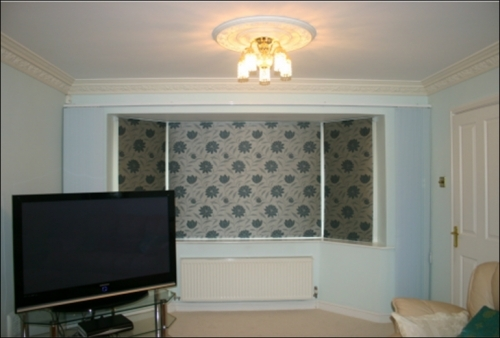 Roman Window Blinds on Bay Window