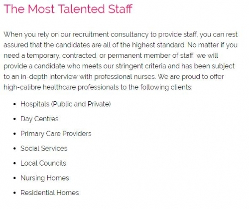 Recruitment Agency For Nurses In London