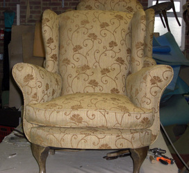 Same chair upholsterd