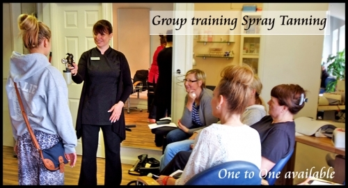 Group Training Session Spray Tanning mainly done one to one