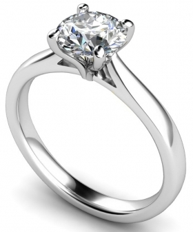 Round Stone Diamond Engagement Rings