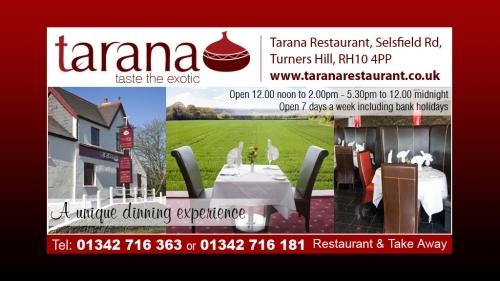 Tarana Indian Restaurant Crawley