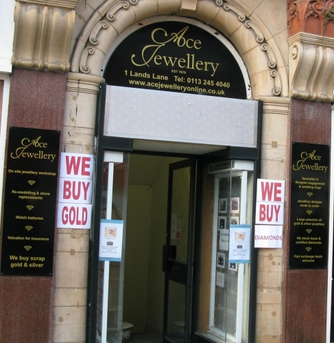 The Ace Jewellery store on Lands Lane, Leeds