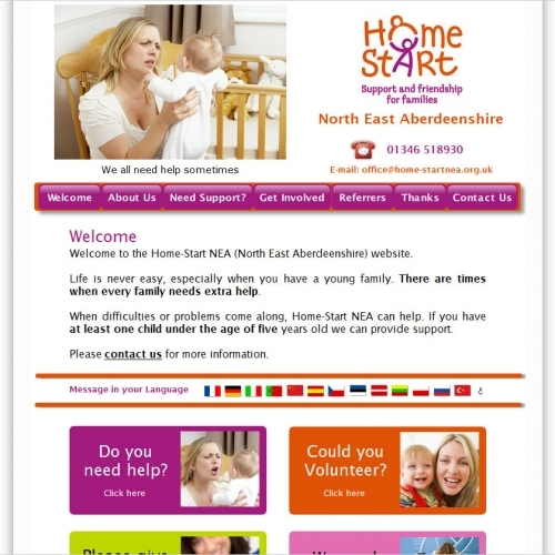 Homestart NEA Childrens Charity CMS - Multilanguage Translator