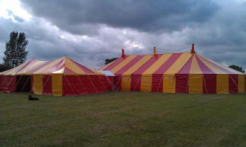 catering tent linked to main venue