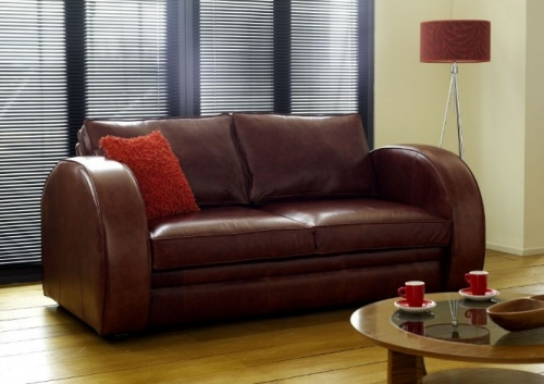 Art Deco Leather Sofa - Astoria