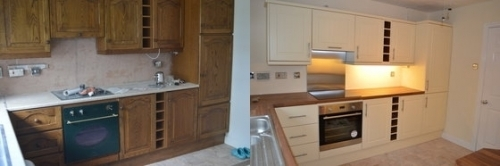 Cream Kitchen Makeover Nantwich