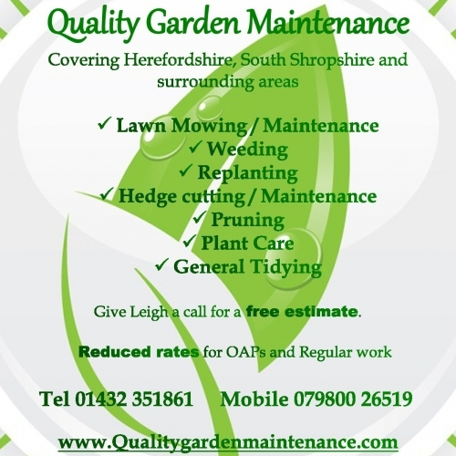 Quality garden maintenance hereford gardening services for Gardening and maintenance