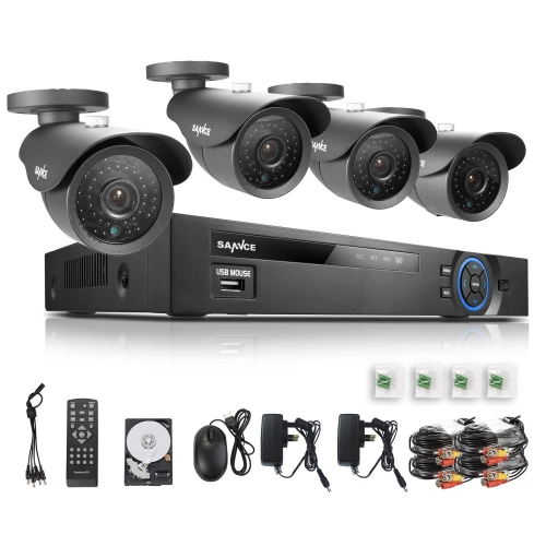 4ch cctv DVD with 4 cameras