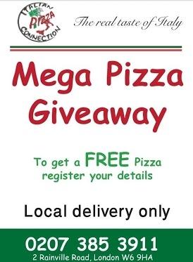 MEGA PIZZA GIVEAWAY!!!