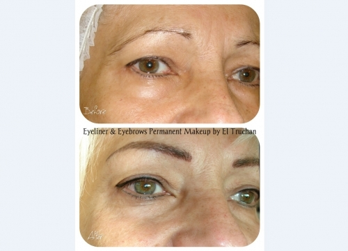 Eyebrow Lift and Eyeliner Permanent Makeup by El Truchan @ Perfect Definition