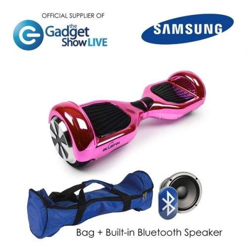 """6.5"""" Pink Chrome Hoverboard Swegway"""