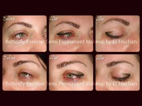 Butterfly Eyeliner Semi Parmanent Makeup By El Truchan at Perfect Definition