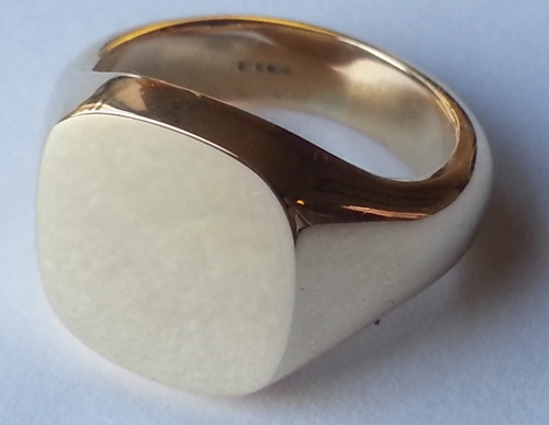 the Classic Cushion Signet Ring
