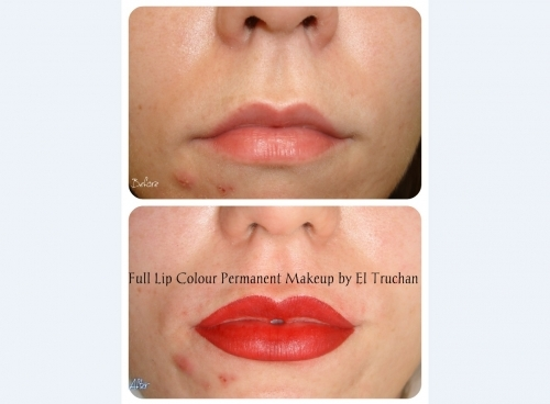 Lips Shape Colrrection and Full Lip Colour Permanent Makeup By El Truchan @ Perfect Definition