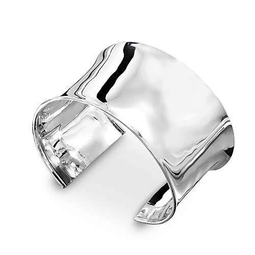 925 Sterling Silver Contemporary Cuff Bangle