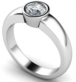 Round Stone Platinum Diamond Rings