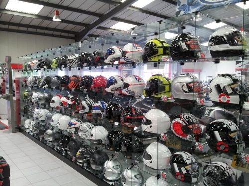 Huge selection of helmets