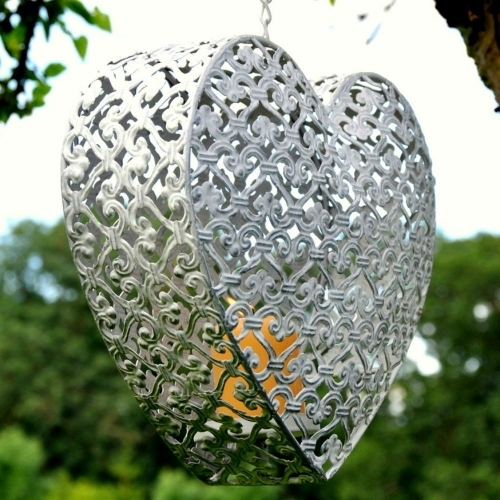 Hanging Heart Candle Holder - £8.99