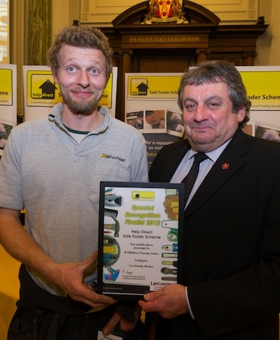 Special Recognition Award from Lancashire Safe Trader Scheme