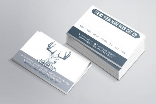 The Handsome Stag Logo and Business Card Design
