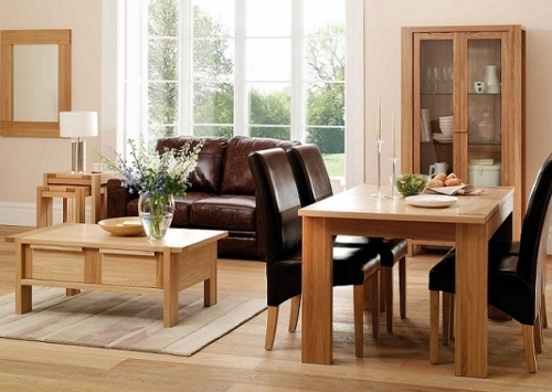 Light Wood Floors Also Go Well With Light Wood Furniture And Cream Magnificent Dining Room Oak Furniture Decorating Inspiration