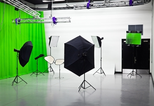 On-site green screen studios