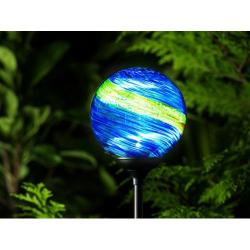Solar Powered Garden Lights - Murano Globe - Midnight (Pack of 4)