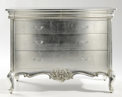 Cristal French Silver 3 Drawer Wide Chest